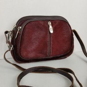 Valentina Leather & Calf Hair Crossbody Bag